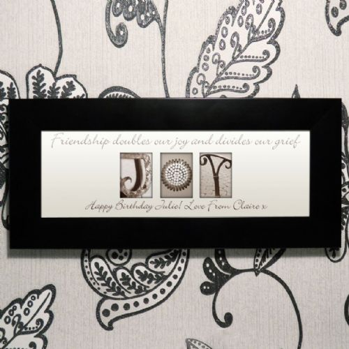 Personalised Affection Art Joy Small Frame